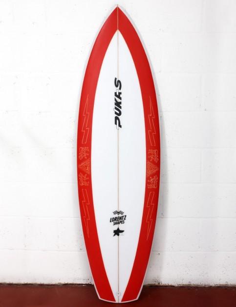 Pukas La Loca surfboard 5ft 10 FCS II - Red