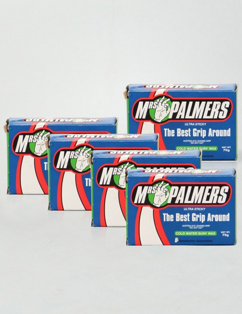 Mrs Palmers Cold Water Pack 5 Bars of surf wax