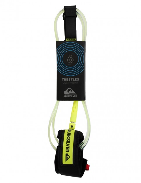 Quiksilver Trestles surfboard leash 6ft - Lime