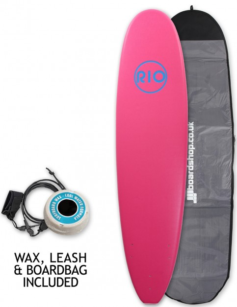 Alder Rio Soft Surfboard package 7ft 6 - Pink