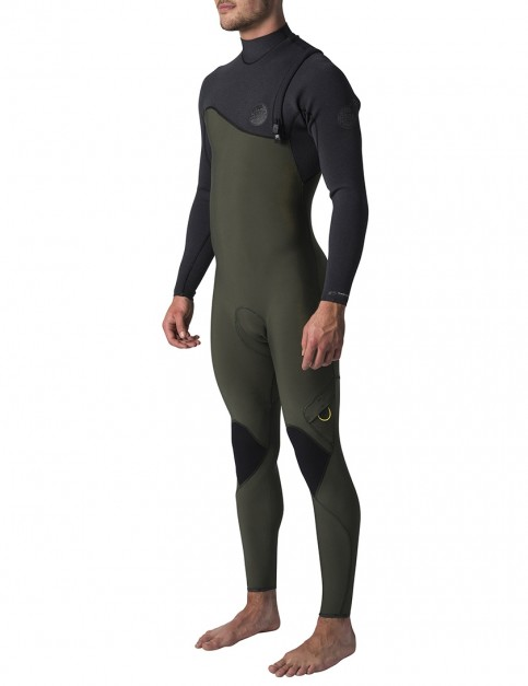 Rip Curl Flash Bomb Zip Free 5/3mm Wetsuit 2019 - Black/Green