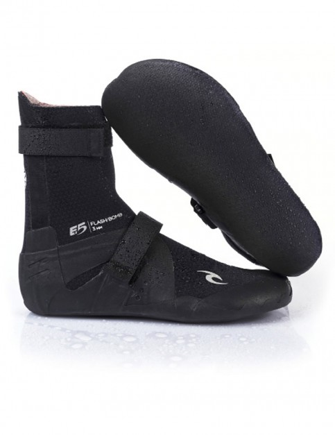 Rip Curl Flash Bomb Round Toe 5mm wetsuit boot - Black