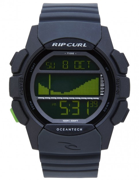 Rip Curl Drifter Tide surf watch - Black/Green