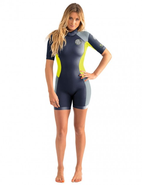 Rip Curl Ladies Dawn Patrol Shorty 2/2mm Wetsuit 2017 - Charcoal