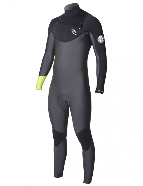Rip Curl Dawn Patrol Chest Zip 4/3mm Wetsuit 2018 - Lemon