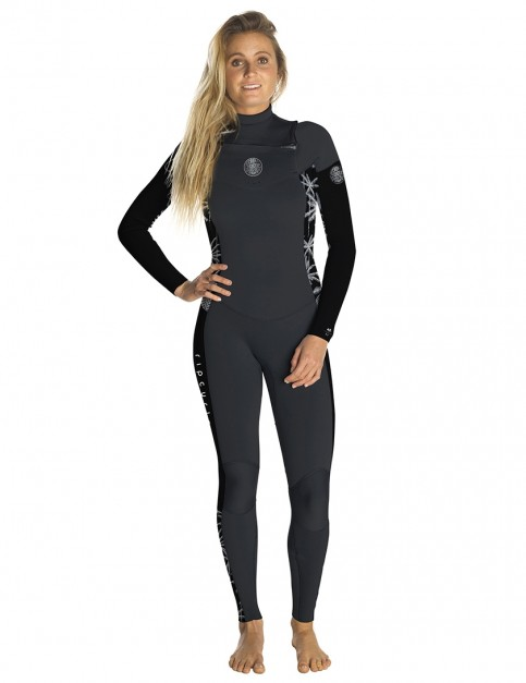 Rip Curl Ladies Dawn Patrol Chest Zip 3/2mm Wetsuit 2018 - Black/Grey