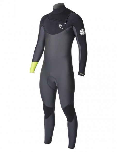 Rip Curl Dawn Patrol Chest Zip 5/3mm Wetsuit 2018 - Fluo Lemon