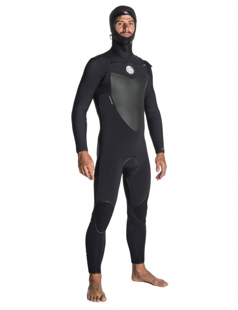 Rip Curl Flash Bomb 5/4mm Hooded wetsuit 2018 - Black
