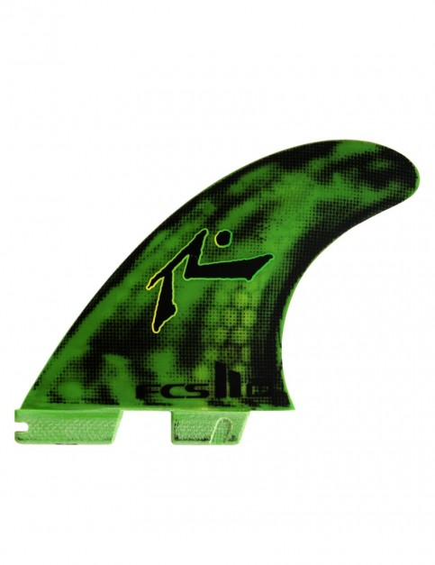 FCS II Rusty Preisendorfer PC Tri-Quad Fins Medium - Fluro Green