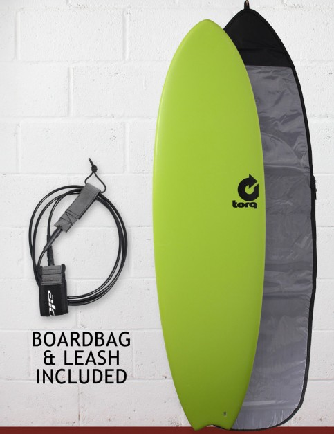 Torq Mod Fish Soft & Hard Surfboard Package 6ft 3 - Green