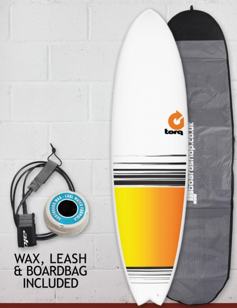 Torq Mod Fish surfboard package 7ft 2 - Colour Fade