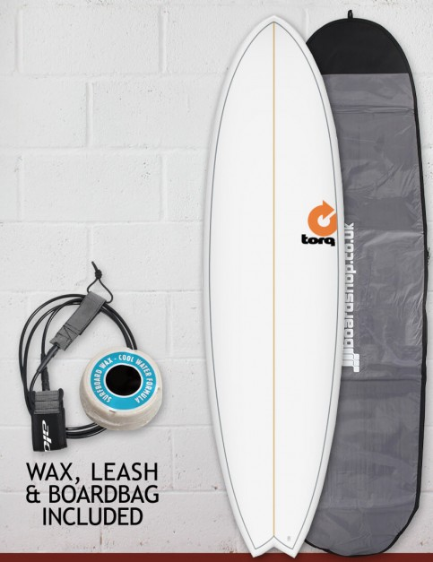 Torq Mod Fish surfboard package 7ft 2 - White Pinline