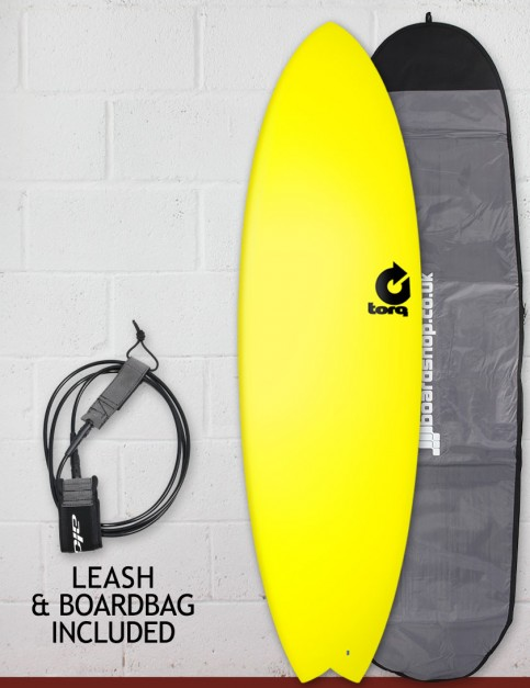 Torq Fish Soft & Hard surfboard package 6ft 3 - Yellow