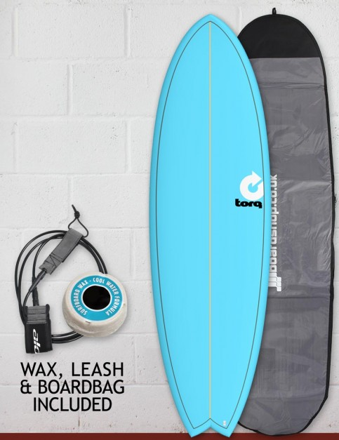 Torq Mod Fish surfboard package 6ft 10 - Blue/Pinline