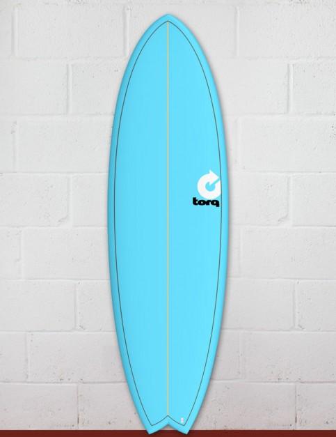 Torq Mod Fish surfboard 6ft 10 - Blue/Pinline
