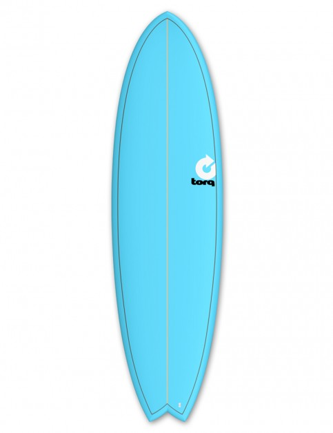 Torq Mod Fish surfboard 6ft 6 - Blue/Pinline