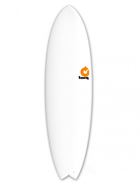 Torq Mod Fish Surfboard 6ft 3 - Matte White