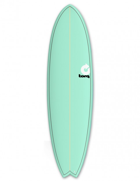 Torq Mod Fish surfboard 7ft 2 - Sea Green/Pinline