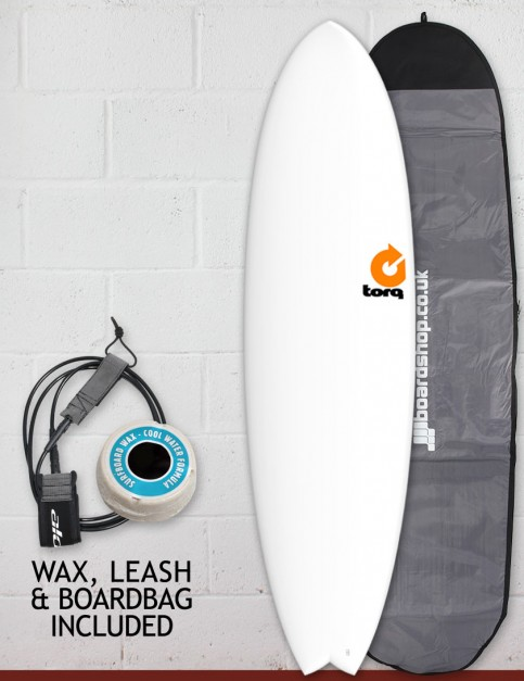 Torq Mod Fish surfboard package 7ft 2 - Matte White