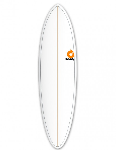 Torq Mod Fun surfboard 6ft 8 - White/Pinline