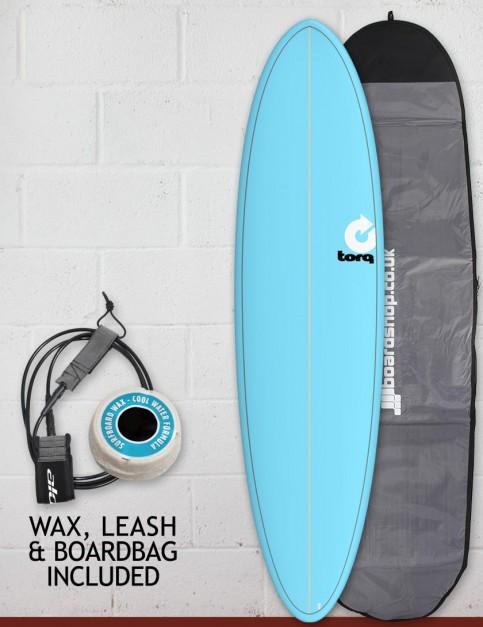 Torq Mod Fun surfboard package 7ft 2 - Blue/Pinline