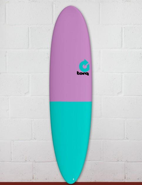 Torq Mod Fun surfboard 7ft 6 - Lavender/Sea Green