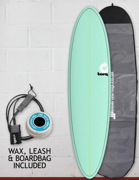 Torq Mod Fun surfboard package 7ft 2 - Sea Green/Pinline