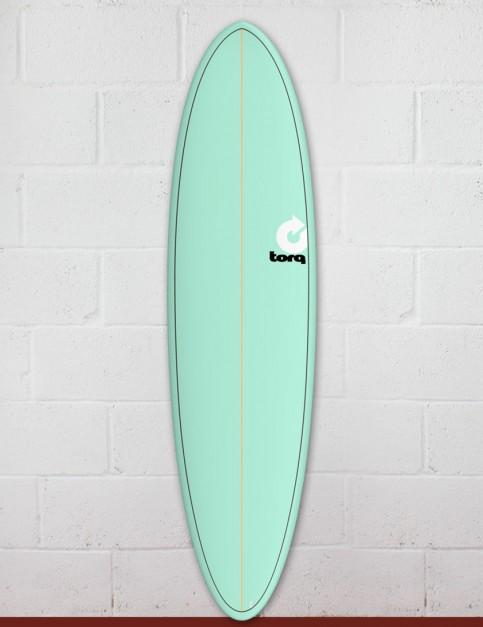 Torq Mod Fun surfboard 7ft 2 - Sea Green/Pinline