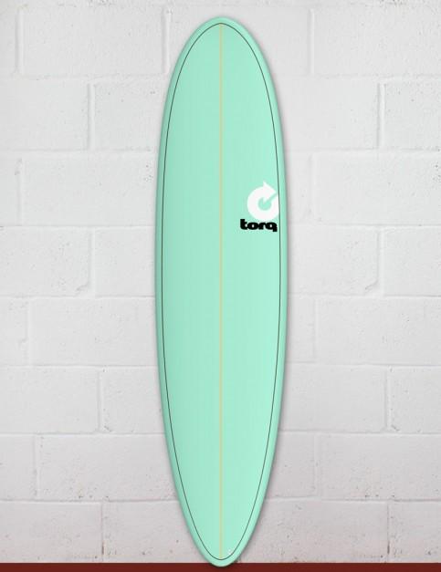 Torq Mod Fun surfboard 7ft 6 - Sea Green/Pinline