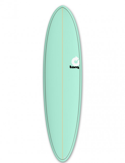 Torq Mod Fun surfboard 7ft 6 - Sea Green/Pinline