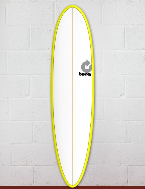 Torq Mod Fun surfboard 7ft 6 - Yellow/White/Pinline