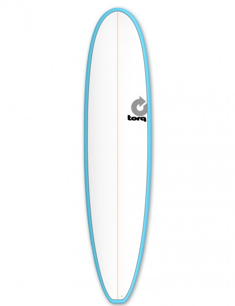 Torq Mini Long surfboard 8ft 0 - Blue/White/Pinline