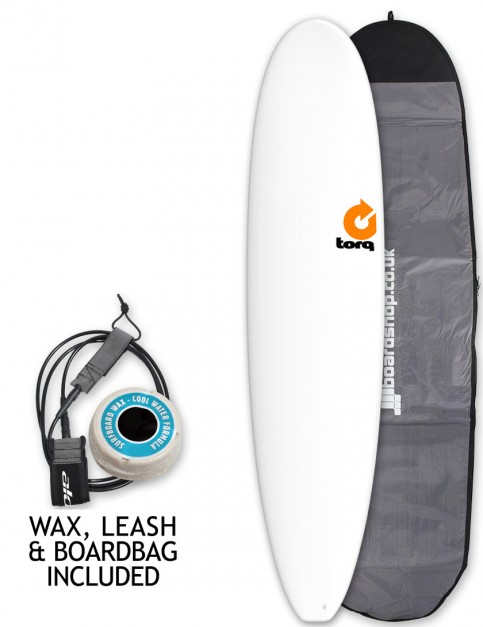 Torq Mini Long surfboard package 8ft 0 - Matte White