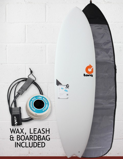 Torq Mod Fish surfboard package 6ft 6 - Matte White