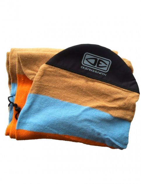 Ocean & Earth Stretch Fish Cover Surfboard bag 7ft 6 - Orange Solid Stripe