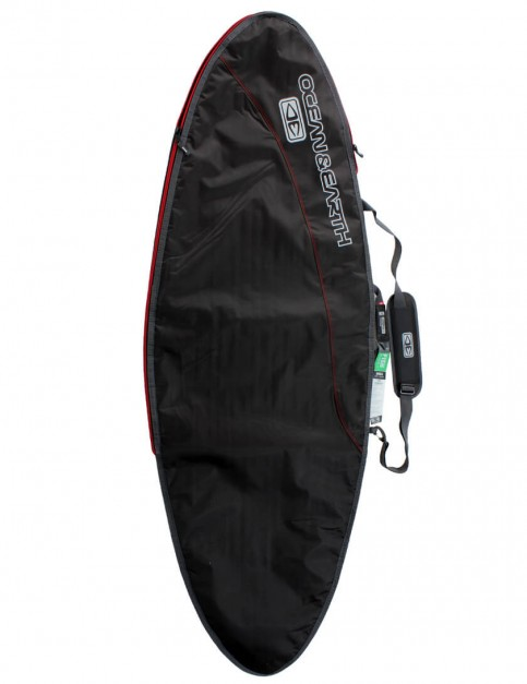 Ocean & Earth New Compact Day Fish Cover 5mm surfboard bag 5ft 8 - Black/Red