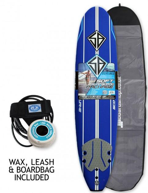 California Board Company Scott Burke Ninety Six Soft Surfboard 8ft 0 Package - Navy