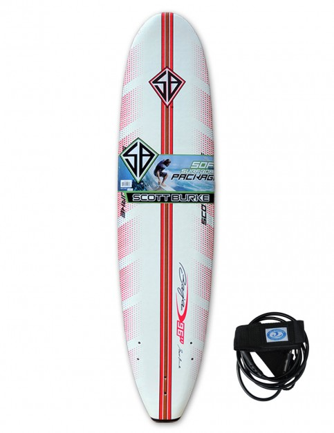 California Board Company Scott Burke Ninety Six Soft Surfboard 8ft 0 - Red