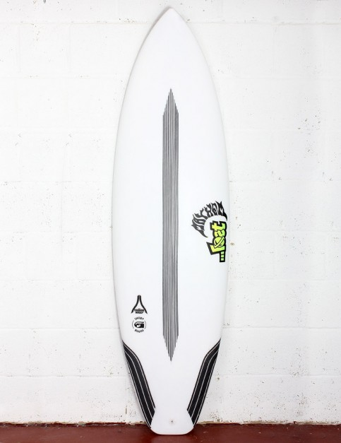 Lost Short Round Surfboard Carbon Wrap 5ft 8 FCS II - White