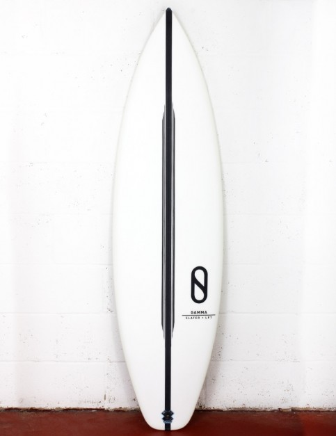 Slater Designs LFT Gamma surfboard (high performance dims) 5ft 10 Futures - White