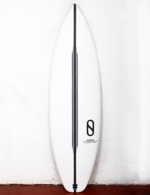 Slater Designs LFT Gamma surfboard (high performance dims) 6ft 8 FCS II - White