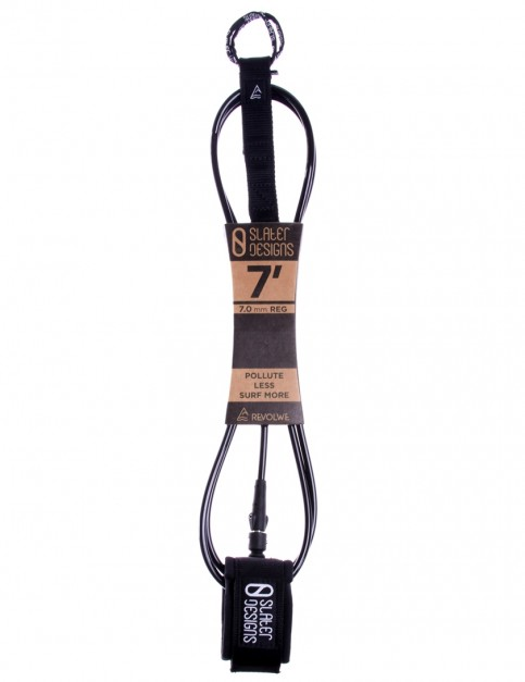 Slater Designs x Revolwe Regular surfboard leash 7ft 0 - Black