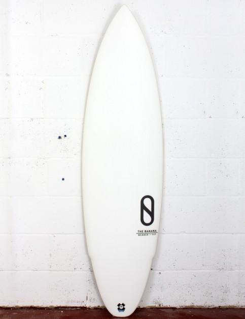 Slater Designs Banana surfboard 5ft 8 Futures - White