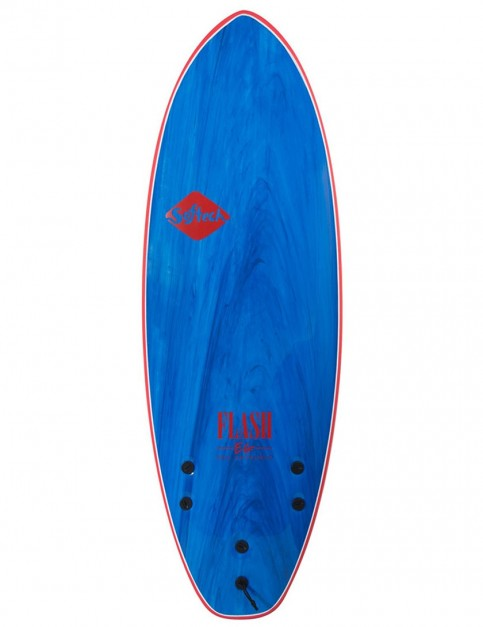 Softech Eric Geiselman Flash soft surfboard 5ft 7 FCS II - Blue Marble