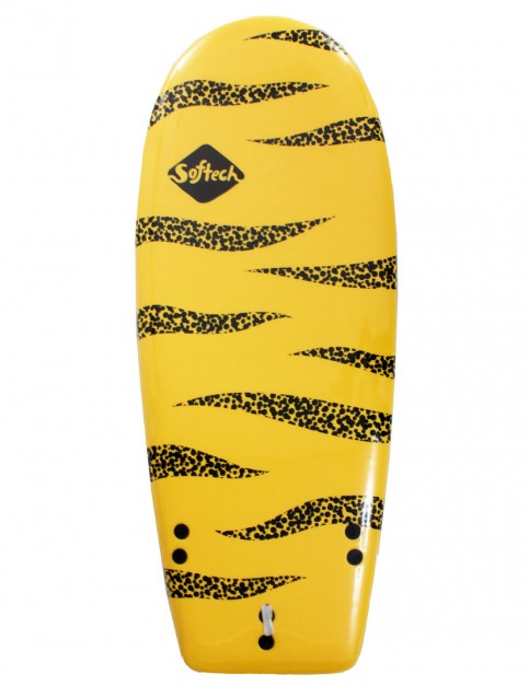 Softech Rocket Launch soft surfboard 4ft 6 - Yellow/Black