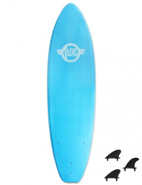 Surfworx Base Mini Mal foam surfboard 6ft 0 - Azure Blue