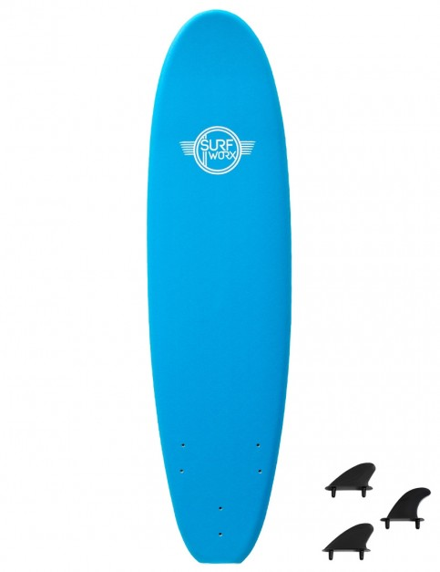 Surfworx Base Mini Mal foam surfboard 6ft 0 - Azure Blue