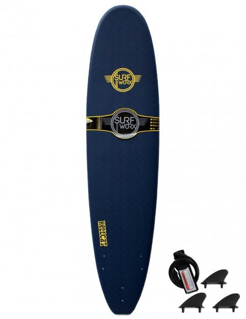 Surfworx Hellcat Mini Mal soft surfboard 8ft 0 - Midnight Blue