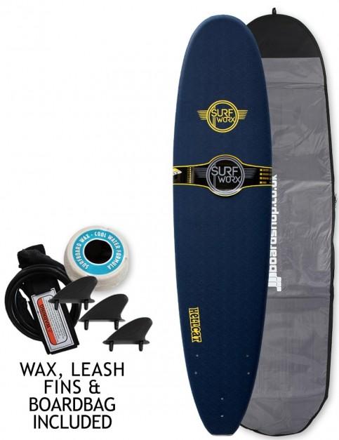 Surfworx Hellcat Mini Mal soft surfboard package 8ft 0 - Midnight Blue