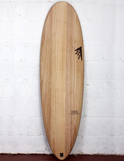Firewire Timbertek Greedy Beaver Surfboard 5ft 8 Futures - Natural Wood